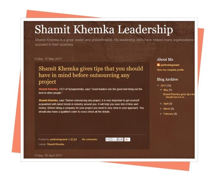 shamit khemka leadership.blogspot